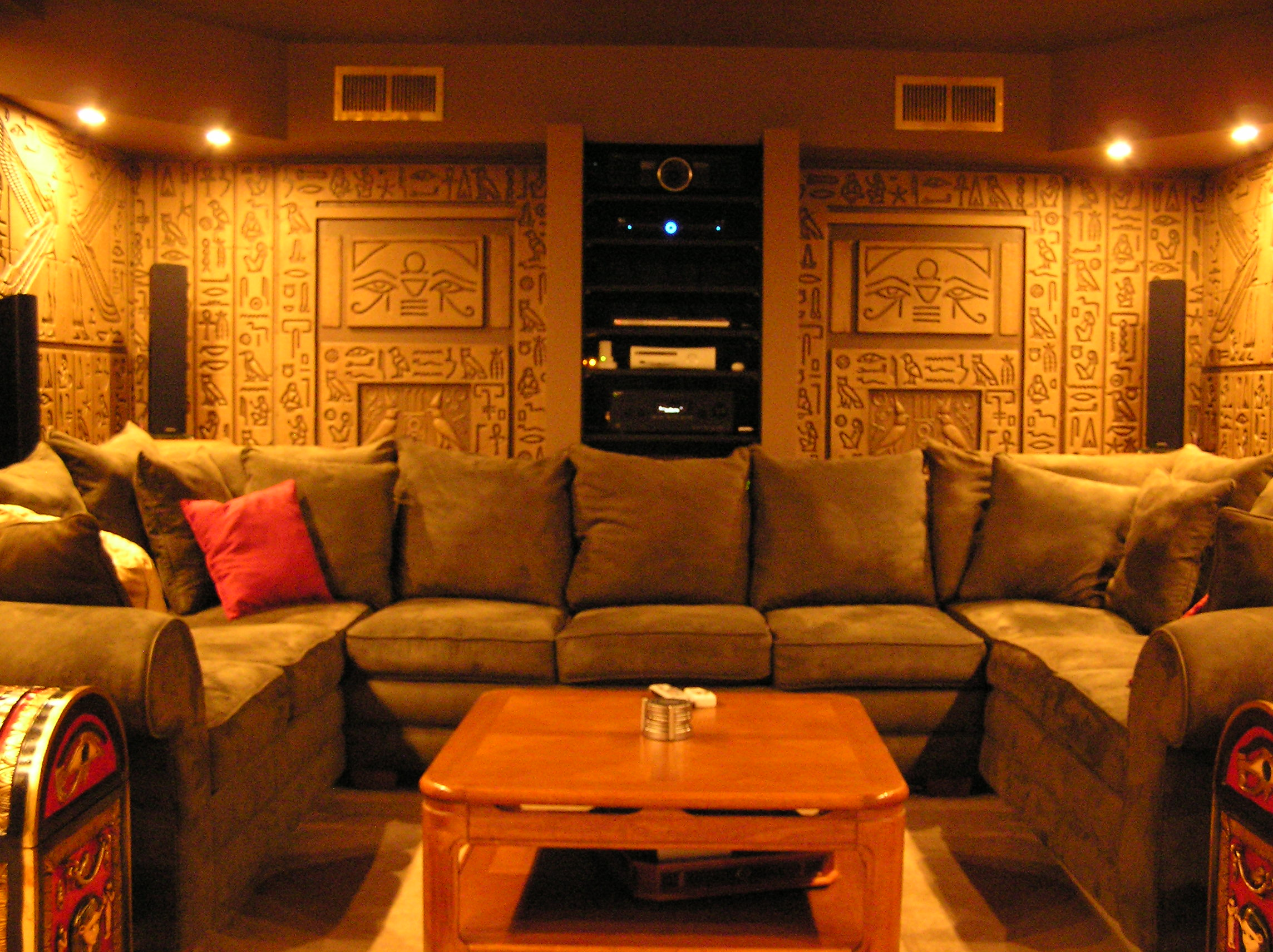 egyptian tomb home theater photos avs forum home theater discussions and reviews. Black Bedroom Furniture Sets. Home Design Ideas